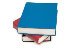 Pila di libri isolati Fotografia Stock Libera da Diritti