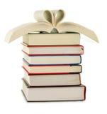 Pila di libri isolati su bianco Fotografia Stock Libera da Diritti