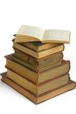 Pila di libri molto vecchi Immagine Stock