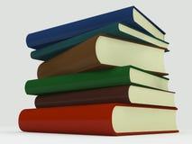 Pila di libri multicolori Immagini Stock Libere da Diritti