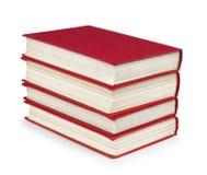 Pila di libri rossi d'annata Immagini Stock