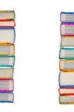 Pila di libri su fondo bianco Fotografia Stock Libera da Diritti