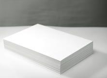 Pila di Libro Bianco Fotografia Stock