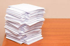 Pila di Libro Bianco Immagine Stock