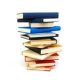 Pila di libro isolata Fotografie Stock