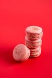 Pila di Macarons fotografie stock libere da diritti