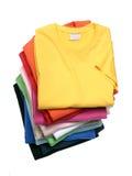 Pila di magliette Immagini Stock