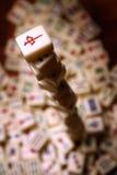 Pila di mattonelle del mahjong Fotografia Stock