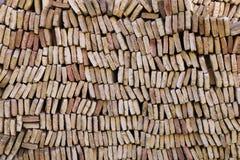 Pila di mattoni Immagini Stock