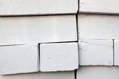 Pila di mattoni bianchi Fotografia Stock