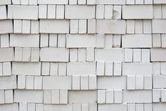 Pila di mattoni bianchi Fotografie Stock