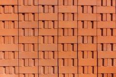 Pila di mattoni dell'argilla rossa Immagini Stock Libere da Diritti