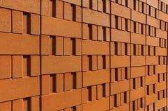 Pila di mattoni dell'argilla rossa Immagine Stock