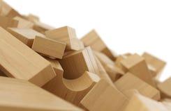 Pila di mattoni di legno 3 Fotografia Stock