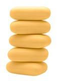 Pila di mattoni gialli del sapone Fotografie Stock Libere da Diritti