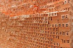 Pila di mattoni rossi Immagini Stock Libere da Diritti