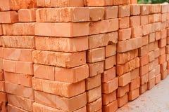 Pila di mattoni rossi Fotografia Stock Libera da Diritti
