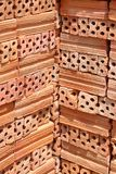 Pila di mattoni rossi Fotografia Stock