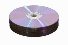 Pila di media del Cd del dvd Fotografia Stock