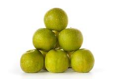 Pila di mele dello Smith di nonna fotografia stock libera da diritti