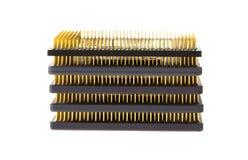 Pila di microprocessori del calcolatore Immagini Stock Libere da Diritti