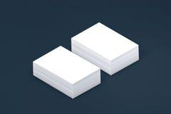 Pila di molte carte di modello di carta alla presentazione Fotografie Stock