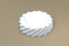 Pila di molte carte di modello di carta alla presentazione Fotografia Stock Libera da Diritti
