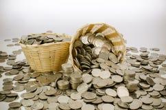 Pila di moneta Fotografia Stock