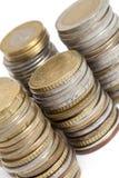 Pila di monete Immagini Stock