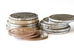 Pila di monete della Nuova Zelanda Fotografia Stock Libera da Diritti