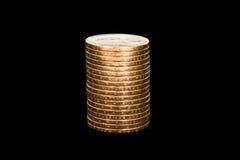 Pila di monete di oro Immagini Stock Libere da Diritti