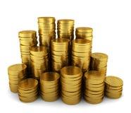 Pila di monete dorate Immagine Stock Libera da Diritti