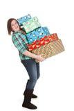 Pila di Natale Fotografia Stock