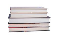 Pila di nuovi libri isolati Fotografia Stock Libera da Diritti