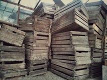 Pila di oggetti di legno Fotografia Stock