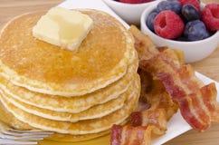 Pila di pancake Fotografie Stock