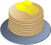 Pila di pancake Fotografia Stock Libera da Diritti