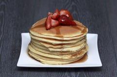 Pila di pancake Fotografia Stock