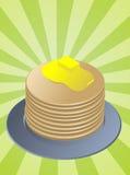 Pila di pancake Fotografie Stock Libere da Diritti