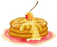 Pila di pancake con sciroppo Fotografie Stock