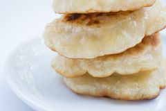 Pila di pancake, fine su Fotografia Stock