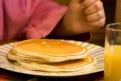 Pila di pancake squisiti Fotografia Stock