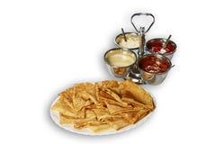 Pila di pancake su un piatto Immagine Stock Libera da Diritti