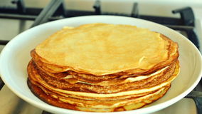 Pila di pancake, timelapse Immagini Stock