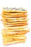 Pila di pane crunchy Fotografie Stock Libere da Diritti