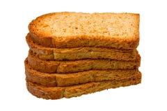 Pila di pani tostati freschi Fotografia Stock Libera da Diritti