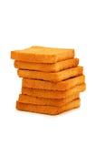 Pila di pani tostati freschi isolati Fotografia Stock Libera da Diritti
