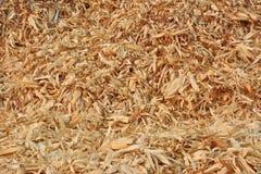 Pila di pannocchie e di foglie asciutte del cereale Fotografia Stock Libera da Diritti