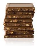 Pila di parti del cioccolato immagine stock