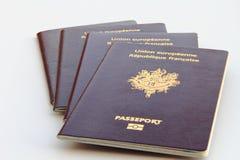 Pila di passaporti biometrici Fotografia Stock Libera da Diritti